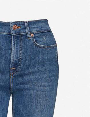 7 For All Mankind Lisha flared high-rise stretch-denim jeans