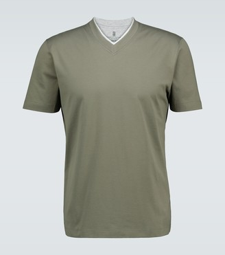 Brunello Cucinelli Cotton V-neck T-shirt