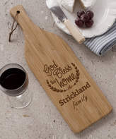'Bless This Home' Personalized Wine Bottle Cutting Board