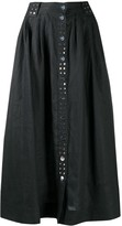 Thumbnail for your product : Ganni studded A-line midi skirt