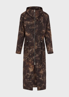Emporio Armani Nylon Tie-Dye Trench Coat