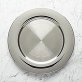 Crate & Barrel Stainless Steel Charger Plate