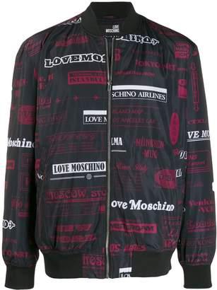 Love Moschino Moschino Airlines print jacket