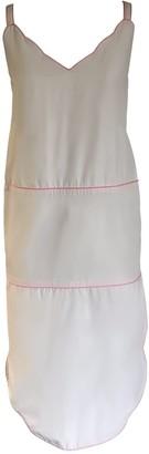Onelady Colorful Midi Dress Off White Drica