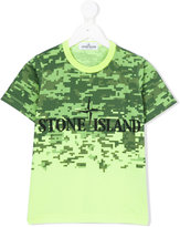 Stone Island Junior - digital camo logo T-shirt - kids - Cotton - 4 yrs