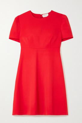 Alexander McQueen Wool Mini Dress - Red