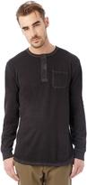 Alternative Raw Edge Smoked Wash Organic Pima Cotton Henley Shirt