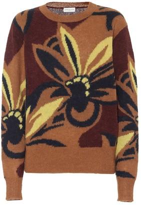 Dries Van Noten Floral alpaca-blend sweater