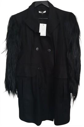Carven Black Fur Coat for Women