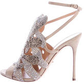 Sergio Rossi Jeweled Suede Sandals