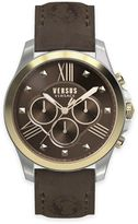 Versus By Versace Men's 44mm Chronograph Lion Watch in Two-Tone Stainless Steel w/ Brown Dial