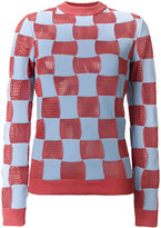 Marni checked crew neck sweater