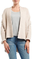 Three Dots Ribbed High-Low Cardigan