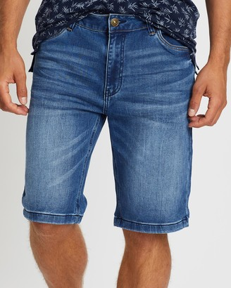 TAROCASH Rhymes Knit Denim Shorts