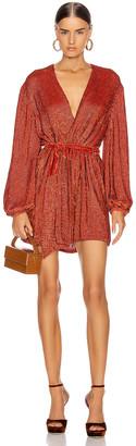 retrofete Gabrielle Robe Dress in Burnt Orange | FWRD