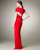 Donna Karan Wrapped Jersey Gown