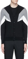 Neil Barrett 'Modernist 7' intarsia cotton cardigan