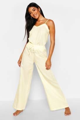 boohoo Cotton Stripe Cami & Trouser Set