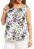 Kasper Plus Abstract Dot Printed Cami