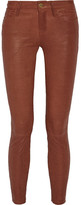 Frame Skinny De Jeanne Leather Pants - Brown