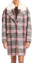 Carven Oversized Bouclette Plaid Coat