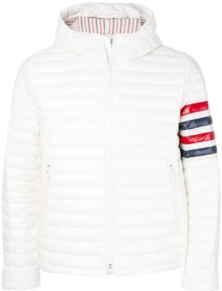Thom Browne 4-Bar Quilted Down Satin Tech Jacket