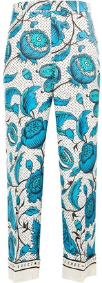 Gucci Floral Print Straight Trousers