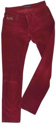 Ralph Lauren Red Velvet Trousers