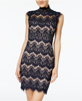 Jump Juniors' Open-Back Lace Bodycon Dress
