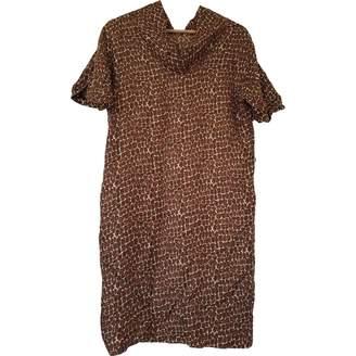 Gerard Darel Brown Silk Dress for Women