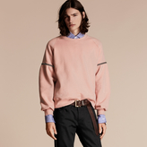 Burberry Bell-sleeved Cotton Blend Sweatshirt
