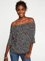 Old Navy Printed Off-the-Shoulder Swing Top for Women