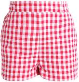 New Look PAPERBAG GINGHAM Shorts red