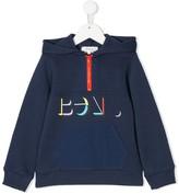 Bonpoint logo print hoodie