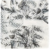 Alexander McQueen Eagle & Leaves scarf - women - Silk/Modal - One Size