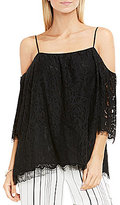 Vince Camuto Elbow Sleeve Cold-Shoulder Blouse