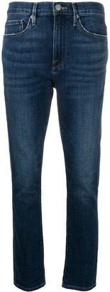 Frame High-Waisted Slim Fit Jeans
