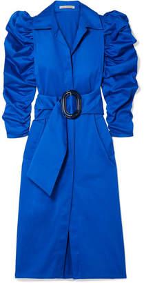 Silvia Tcherassi Tokio Stretch-cotton Poplin Dress - Royal blue
