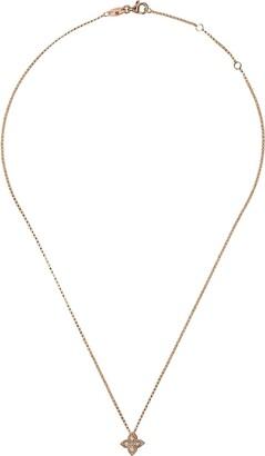 Roberto Coin 18kt rose gold Princess Flower diamond pendant necklace
