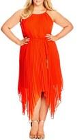 City Chic Plus Size Women's 'Divine' Pleat Maxi Dress