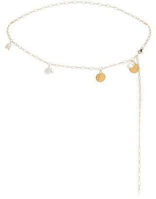 Alighieri Apollo's Dance 24kt-gold And Pearl Chain Belt - Womens - Gold
