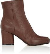 Maison Margiela Women's Side-Zip Ankle Boots-BROWN