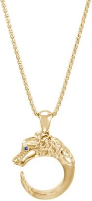 John Hardy 'Legends Naga' sapphire 18k yellow gold pendant necklace