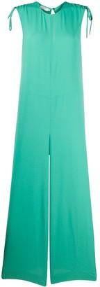 Incotex wide-leg flared jumpsuit