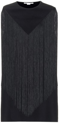 Stella McCartney Fringed cady minidress