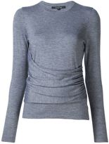 Derek Lam Long Sleeve Top With Gathered Side Detail