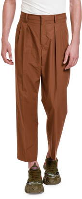 Valentino Men's Pleated-Front Solid Pants