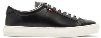 Moncler New Monaco Leather Trainers - Black
