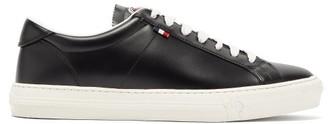 Moncler New Monaco Leather Trainers - Mens - Black