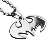 Tanboo Batman Pendant Necklace Dog Tag,with Tanboo Card and Bow Box